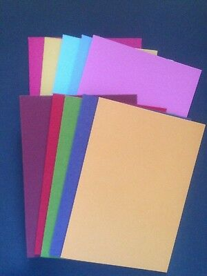 10 Blank Coloured  A6 Textured Cardstock Cards  and C6 White Envelopes
