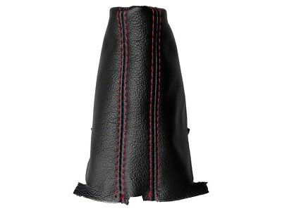 Shift Boot For Volkswagen Golf 7 DSG 2013-2018 Plastic Frame Leather Red Stitch