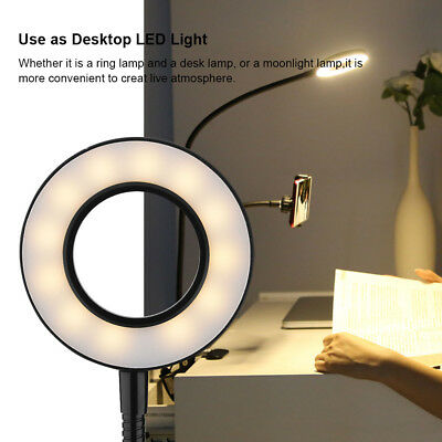 Portable Selfie Ring Lamp Desktop Table Holder LED Fill-in Light For Live Stream