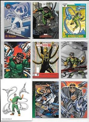 Dr. Octopus, Marvel card and tattoo lot