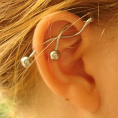 Cool Twist Spiral Ear Industrial Barbell Belly Ring Piercing Earring Gift Charm