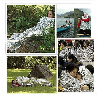 Waterproof Disposable Emergency Rescue Space Foil Thermal Blanket New ZX