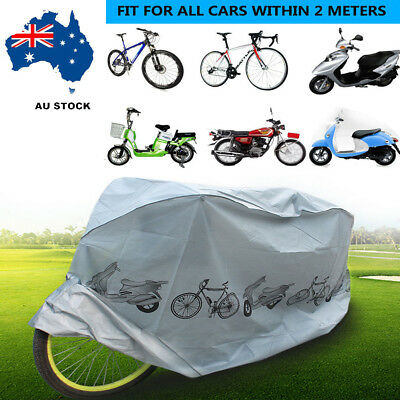 Bike Cover Waterproof Rain Dust Cover Outdoor Protector Bicycle Scooter Cover AU