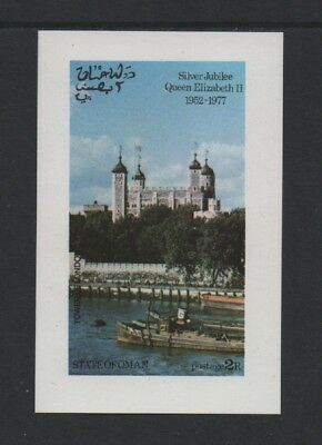 State Of Oman 1977 Qe2 Silver Jubilee M/sheet (Tower Of London) *vf Mnh* Imperf