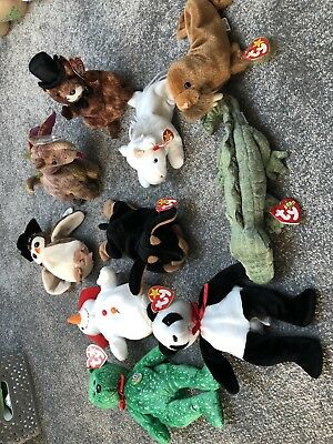 Ty Beanie Babies Job Lot Of 10