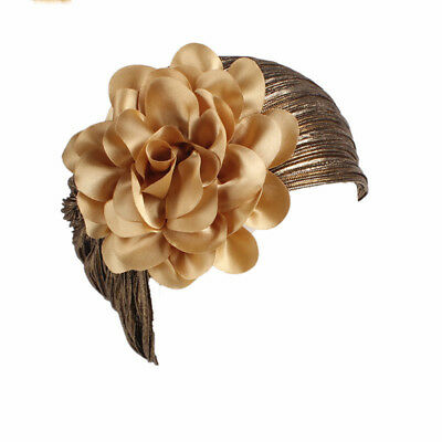 Lady Princess Head Elastic Flower Hat Fascinator Sinamay Large Wedding Party 6A