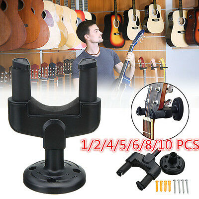 10X Electric Guitar Wall Hanger Holder Stand Rack Hook Mount For All
