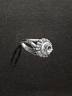 DESPRES Dessin original GOUACHE Bague Diamants BIJOU JOAILLERIE ART DECO 1930