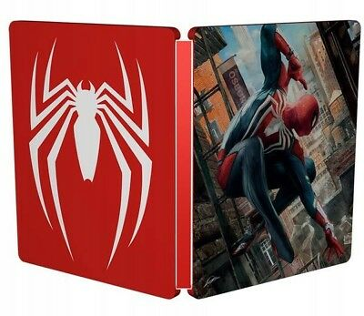Marvel's Spider-Man New Steelbook Ps4 Pc Xbox G2 Size Metal Case Spiderman Box