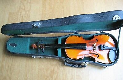 Violin 1/8 size complete with bow, rosin & hard case.