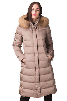 MABRUN Down Quilted Coat Size IT 44 / M Waterproof Raccoon Fur Trim RRP €720
