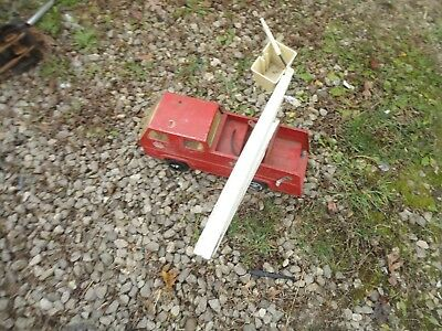 VINTAGE  PRESSED STEEL tonka pick up 1970s 70s 80s toy truck firetruck 1960s