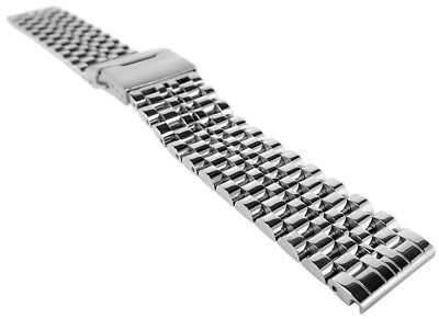 Minott Stainless Steel Band Solid, High Gloss Security Deploying Clasp > 36390