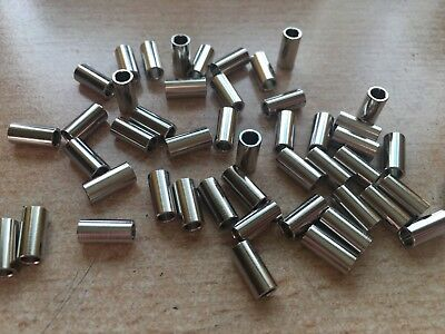 M3 x 10mm   Round  Female - Female  Spacer Brass Nickel      Z494
