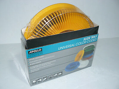Apollo Universal Color Coded Slide Tray - Yellow NEW Carousel Holds 80 Slides