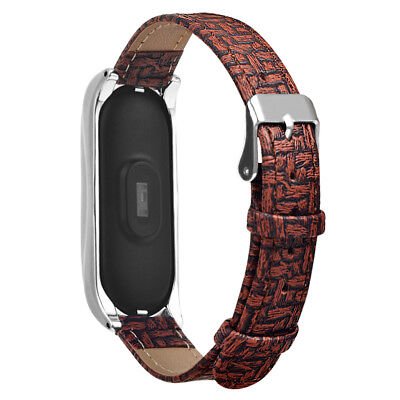 PU Leather Wrist Band Metal Buckle Strap for Xiaomi Mi Band 3 Smart Watch