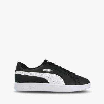 PUMA SMASH V2 L 365215 01 mens white black leather sneakers casual ... b253c8d95