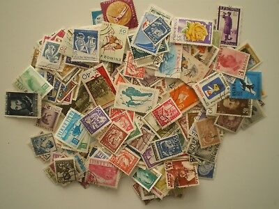 ROMANIA - CLEARANCE LOT OF USED UNSORTED STAMPS - 7 oz or 19 grams in weight