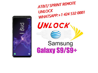 samsung  S9 S9+ spectrum at&t sprint tmobile ALL BITS, REMOTE UNLOCK instant