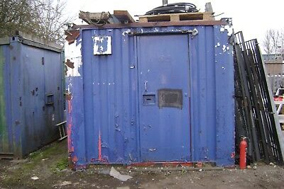 Container With Storage One End +  Toilet Other  End  15'9  X  9'2  X  8' Tall