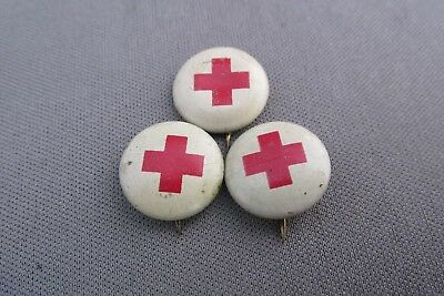Vintage (3) Green Duck Stamping Co. Red Cross Pin Lapels