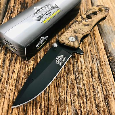 """7"""" TAC FORCE EDC FALL CAMO SPRING ASSISTED TACTICAL POCKET KNIFE Blade Assist TH"""