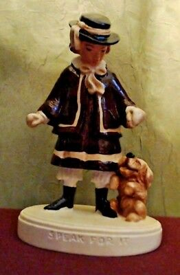 """Sebastian Miniatures Signed """"Speak for It"""" a Boy and His Dog"""