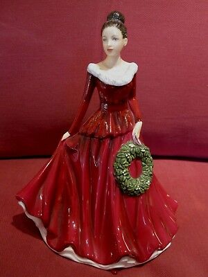 Beautiful Royal Doulton Figurine Entitled Mistletoe And Wine Songs Of Christmas