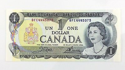 1973 Canada 1 One Dollar BFE Prefix Canadian Uncirculated Currency Banknote I394