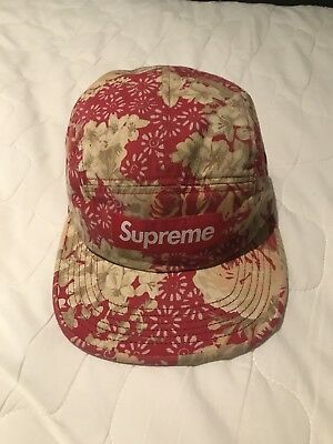 74adf425cfd AUTHENTIC SUPREME WASHED Chino Twill Camp Cap Floral SS18 -  80.00 ...