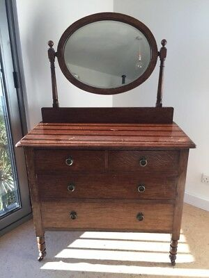 Vintage 1940's Solid Timber Dressing Table Superb Quality