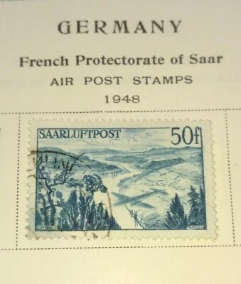 Rjkstamps Germany Saar stamp 1948 Sc# 216 used French occupation air post