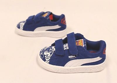 Puma Boy s Superman Suede Street V Shoes True Blue Puma White Size 5.5C bf5c9091c