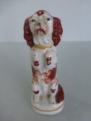Miniature 19Thc. Staffordshire Of A Begging Spaniel C.1850