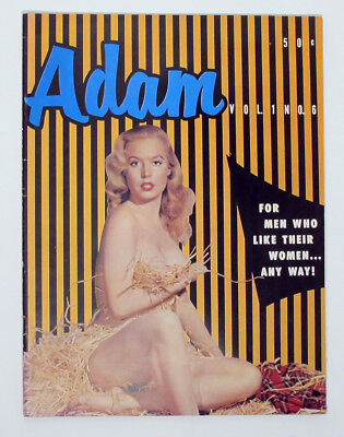 Vintage November 1957 Adam Magazine Vol. 1, No. 6 Betty Brosmer Pin-Up Cover
