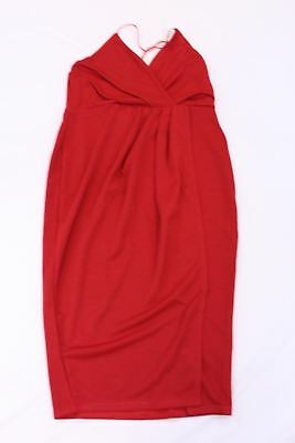 415dd1af0e5f Boohoo Womens Diane Strappy Wrap Detail Midi Dress Poppy Red AB4 UK:14 US: