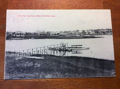 Postcard Hyannisport, Mass. Lewis Bay and Daisy Bluff. Posted 1908