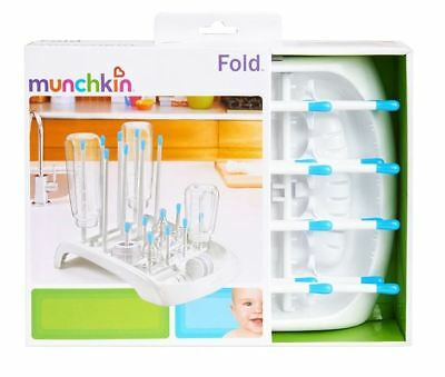 Baby Bottle Drying Rack Munchkin Fold Plastic, Color BLUE