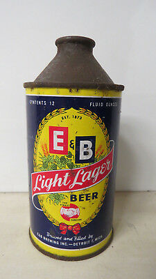 IRTP E & B Light Lager Beer Cone Top Beer Can. Detroit, MI.