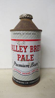 IRTP Valley Brew Pale Premium Beer Cone Top Beer Can w/ Cap. Stockton, CA.
