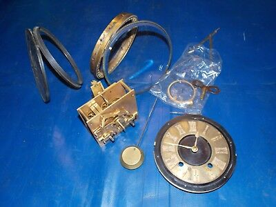 Antique large square French clock movement and parts,marked C.R