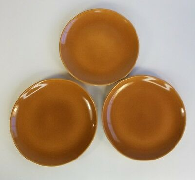 Vintage Russel Wright 3 Dinner Plates Iroquois Apricot Casual China Mid Century