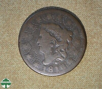 1816 Coronet Head - One Cent - About Good Details W/ Damage