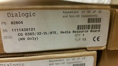 Dialogic NMS CG6565/32-2L/8TE - NEW FACTORY SEALED (82804)