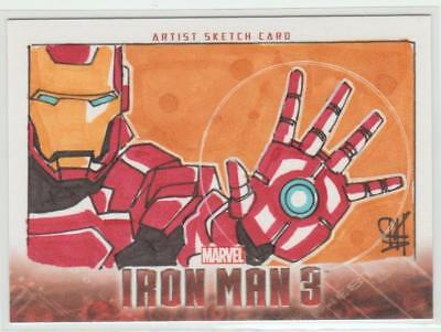 Iron Man 3 Ud 2013 Sketchafex Sketch Card Iron Man Artist Signed Erik Reeves