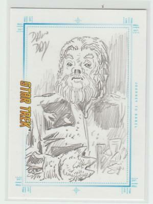 Star Trek Tos Portfolio Sketchafex Sketch Card Artist Signed Dan Day