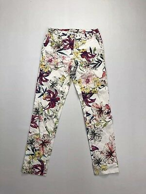 REISS Tapered Trousers - UK6 L28 - Floral - Great Condition - Women's