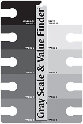 Artists' Grey Scale and Value Finder - The Colour Wheel Company