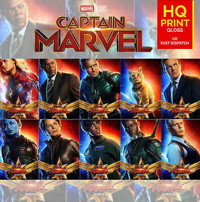 Captain Marvel Movie Film All Character Poster Marvel Comics | A4 A3 A2 A1 |