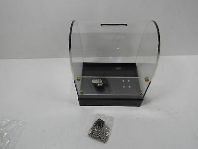 Retail Supply Co Card/Donation Box with Built In Sign Holder Clear/Black